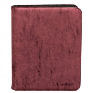 Ultra-Pro Suede Collection 9-Pocket Premium PRO-Binder (Ruby)