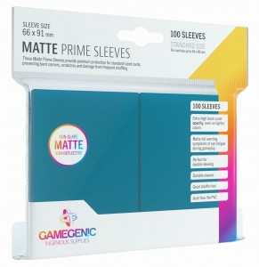 Gamegenic: Matte Prime CCG Sleeves (66x91 mm) - Blue, 100 sztuk