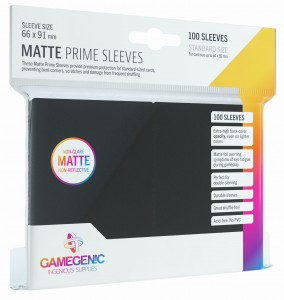 Gamegenic: Matte Prime CCG Sleeves (66x91 mm) - Black, 100 sztuk