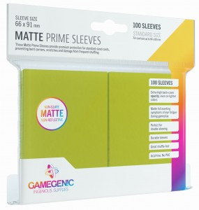 Gamegenic: Matte Prime CCG Sleeves (66x91 mm) - Lime, 100 sztuk
