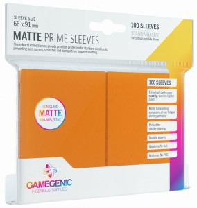 Gamegenic: Matte Prime CCG Sleeves (66x91 mm) - Orange, 100 sztuk