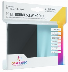 Gamegenic: Prime Double Sleeving Pack (66x91 mm/64x89 mm) 2x80 sztuk