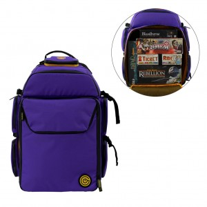 GeekOn! - The Ultimate Boardgame Backpack (Purple/Orange)