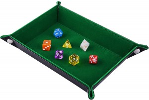 Rectangle Folding Dice Tray (Green)