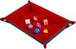 Rectangle Folding Dice Tray (Red)