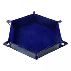 Hexagon Folding Dice Tray (Blue)
