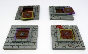 Vault door tiles for Zombicide Black Plague - (4 elementy)