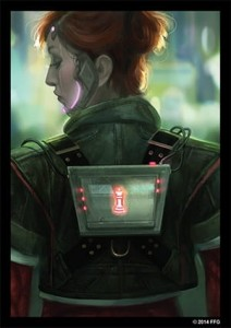 FFG Netrunner Art Sleeves - Deep Red 50 (limited edition)
