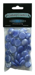 Dragon Shield - Opaque Gaming Counters - Marble Blue