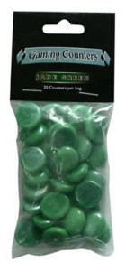 Dragon Shield - Opaque Gaming Counters - Jade Green