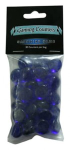 Dragon Shield - Transparent Gaming Counters - Sapphire Blue