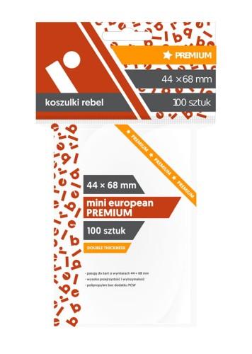 Koszulki Rebel (45x68 mm) Mini European Premium - 100 sztuk