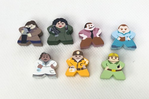 7-Piece Character Meeple Set (Compatible with Pandemic Base Game)