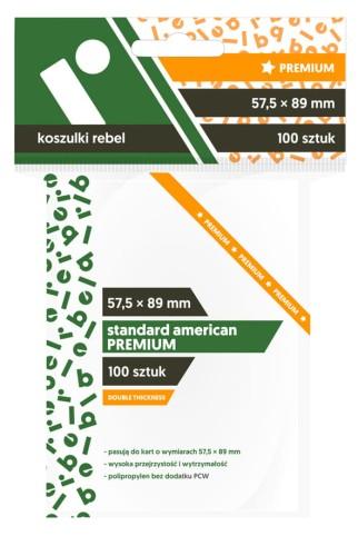Koszulki Rebel (57,5x89 mm) Standard American Premium - 100 sztuk