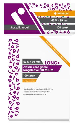 Koszulki Rebel (63,5x89 mm) Classic Card Game Longsleeve Premium - 100 sztuk