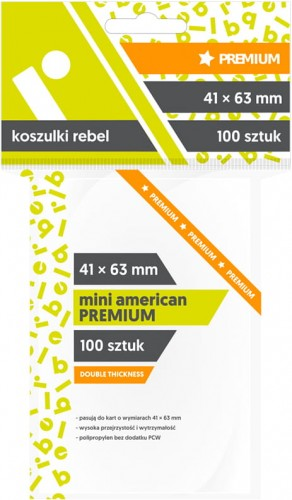 Koszulki Rebel (41x63 mm) Mini American Premium - 100 sztuk