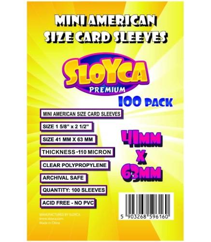 Koszulki Sloyca Mini American Premium 41x63mm - 100 sztuk