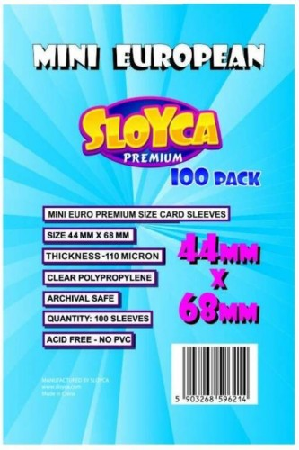 Koszulki Sloyca Mini European Premium 44x68mm - 100 sztuk