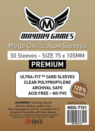 Koszulki Mayday Premium Mega Civilization - 75x105mm - 50 sztuk