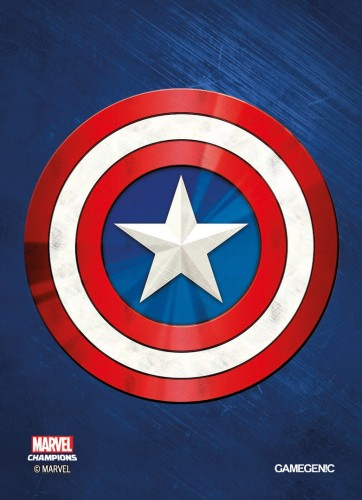 Gamegenic: MARVEL Art Sleeves (66 mm x 91 mm) Captain America 50+1 szt.