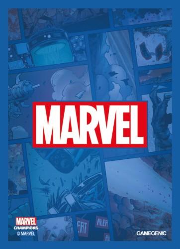 Gamegenic: MARVEL Art Sleeves (66 mm x 91 mm) Blue 50+1 szt.