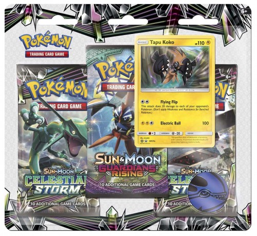 Pokémon TCG: Sun & Moon Series 3 Booster Packs, Coin & Tapu Koko Promo Card