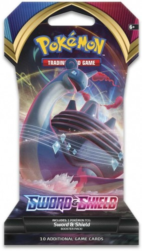 Pokemon TCG: Sword and Shield - Sleeved Booster pack (10 Cards)