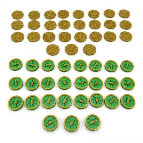 Coin & Compass Tokens for Lost Ruins of Arnak - (54 elementy)