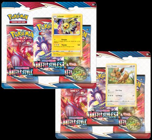 Pokemon TCG: Battle Styles - 3-pack Blister