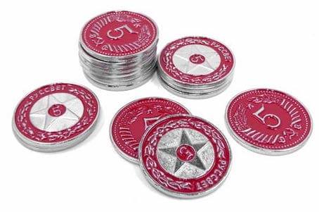 Scythe -15 metalowych monet 5$ (Promo #17)