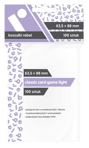 Koszulki Rebel (63,5x88 mm) Classic Card Game Light - 100 sztuk