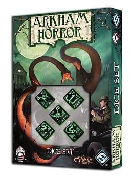 Zestaw kości Arkham Horror - Czarno-Zielone