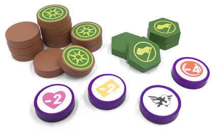 Scythe - Encounter and Expansion Tokens (19 sztuk)