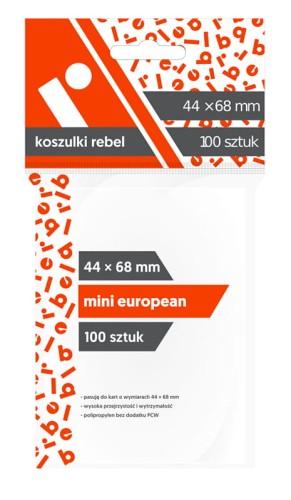 Koszulki Rebel (44x68 mm) Mini European - 100 sztuk