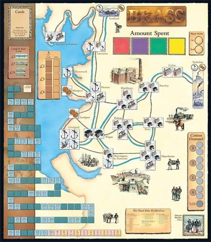 Brass - dwustronna mapa