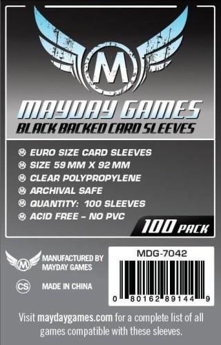 Koszulki Mayday Euro Black - 59 x 92 mm -100 sztuk (czarne)